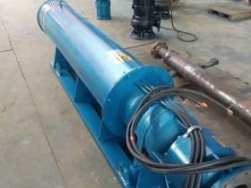 云南红河250QJW卧式潜水泵安装调试完毕