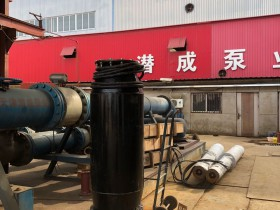 350QZB便携式潜水轴流泵即将现场安装