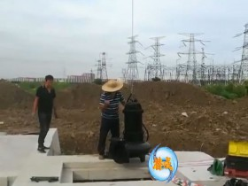 WQ潜水排污泵天津津南区现场安装