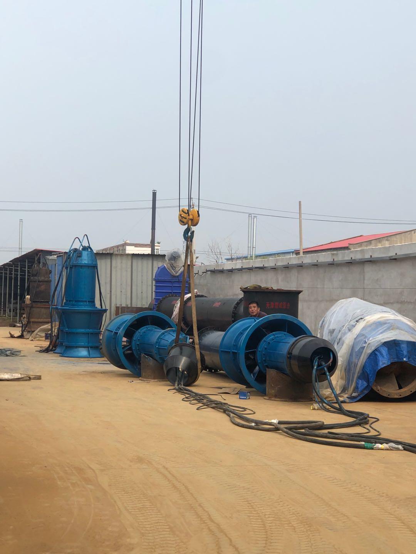 900QZB潜水轴流泵实验OK即将现场安装第2张-潜水电机-潜水电泵-高压潜水电机-天津潜成泵业