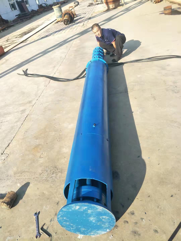 320方130米220千瓦带散热器及模拟井筒水池用潜水泵发往北京第3张-潜水电机-潜水电泵-高压潜水电机-天津潜成泵业